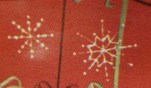 image of gift wrap snowflake gift tags