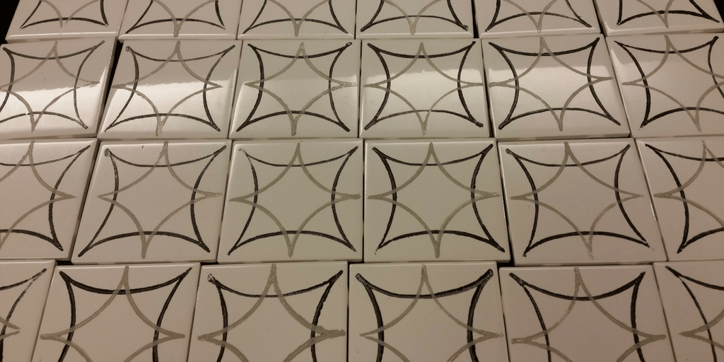 How to Make a Fabulous Faux Cement Tile Backsplash