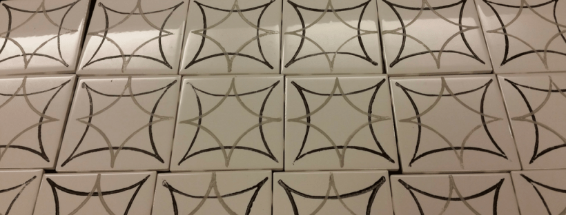 How To Make A Fabulous Faux Cement Tile Backsplash For Less Than - Faux encaustic tile
