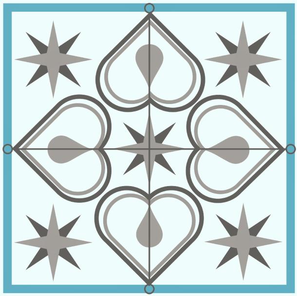 Faux Cement Tile Backsplash Design image