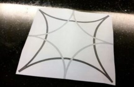 faux cement tile backsplash project design image