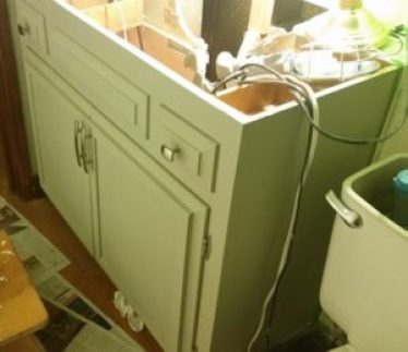 image cabinet painted powder room redo amigas4all 1