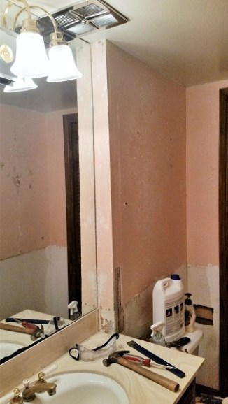 image powder room redo without wall paper