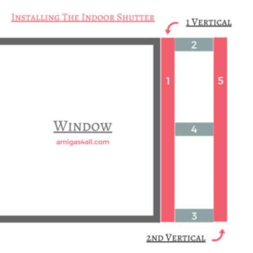 Window indoor shutters