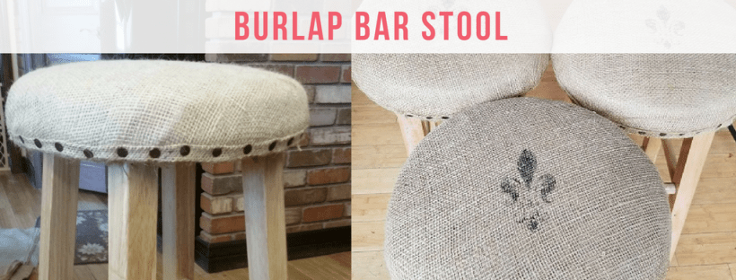 Burlap Bar Stool redo amigas4all.com