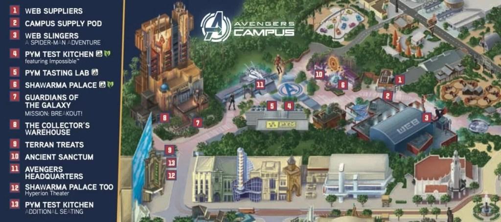 Disney divulgou mapa e mais imagens da nova land da Marvel