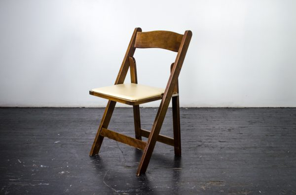 events-weddings folding chair fruitwood