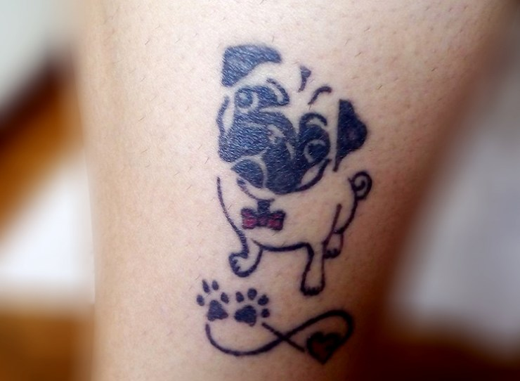 Tatuagem de Pug