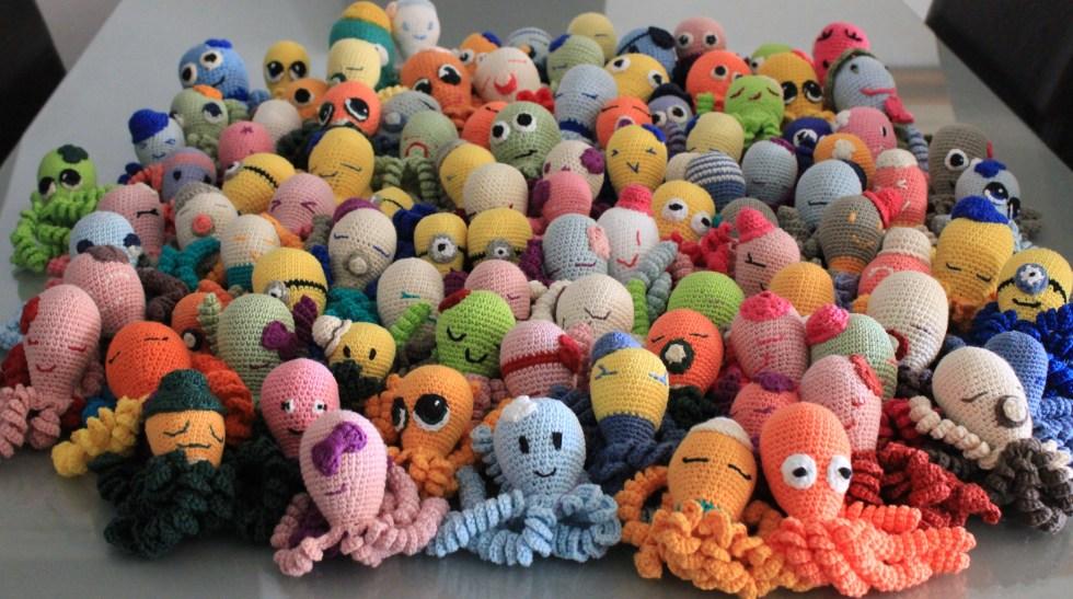 Taller de Pulpitos Solidarios Organizados por Amiguitos de crochet