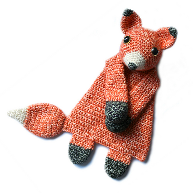 Fox ragdoll toy to crochet