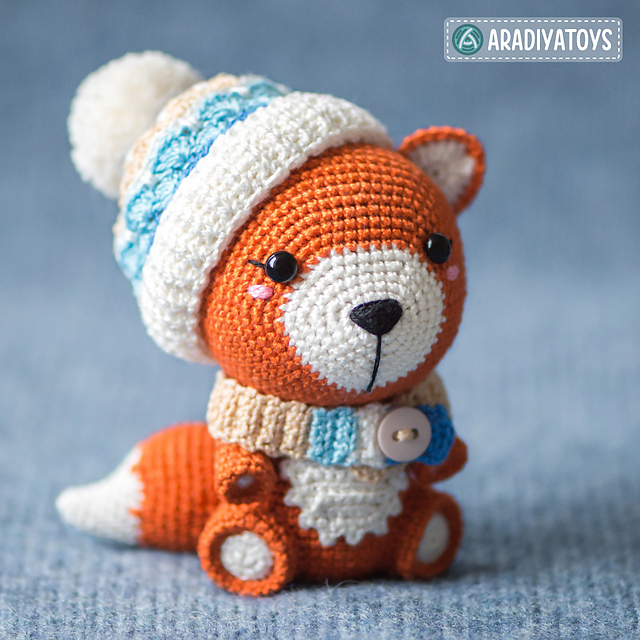 Kawaii fox amigurumi pattern