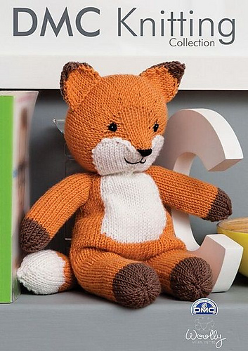 Woolly knitted red fox stuffed toy