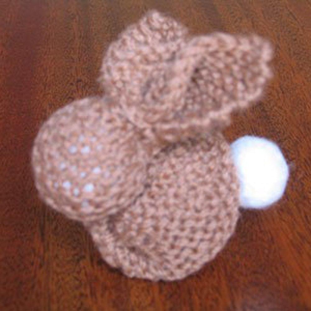 knitted amigurumi bunny