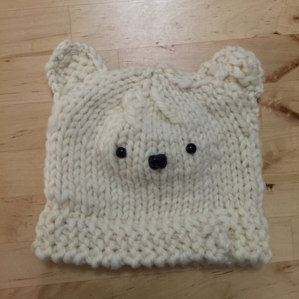 Knit bear hat for Baby