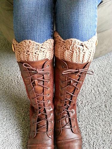 Crocheted Boot Cuff Pattern