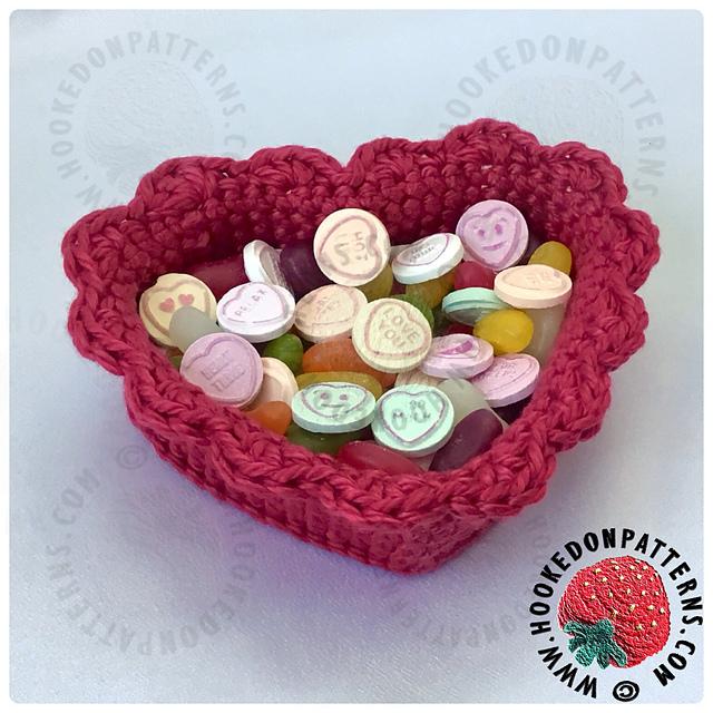 Heart Baskets Crochet Pattern