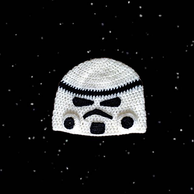 Storm Trooper Crochet Beanie