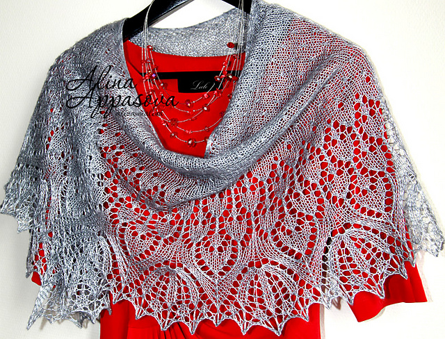 lace wedding shawl with flowers