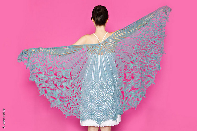 half circle wedding shawl knitting pattern