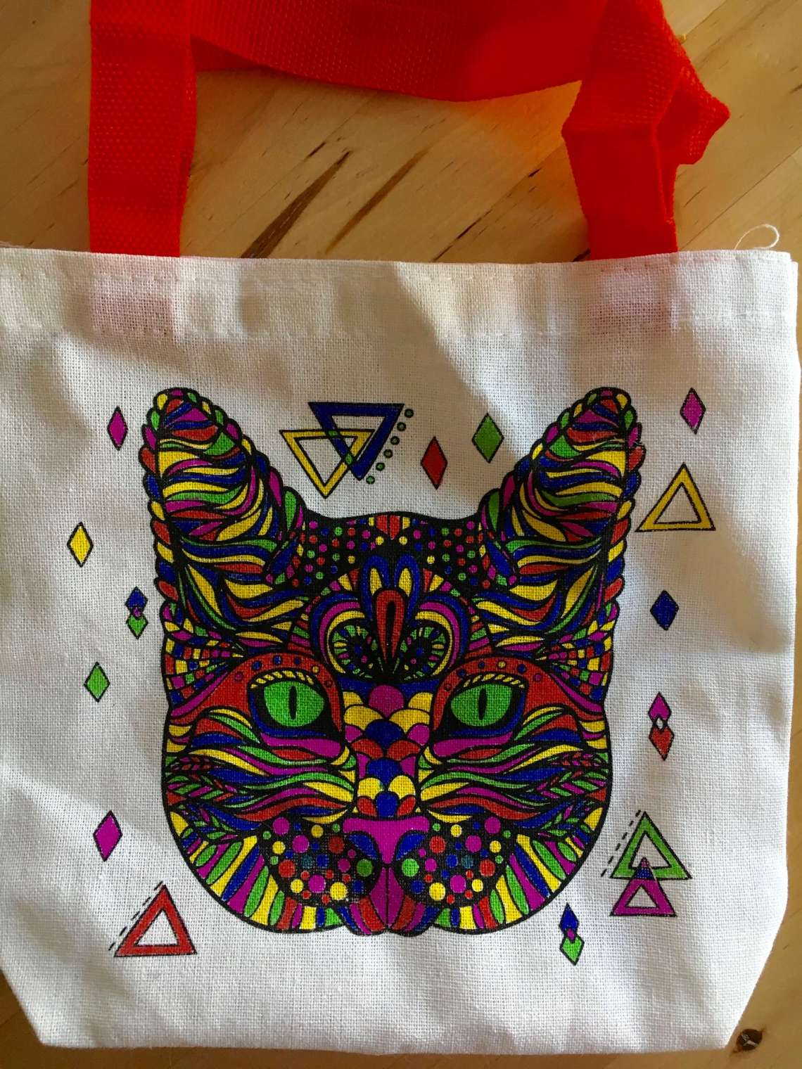Cat knitting bag