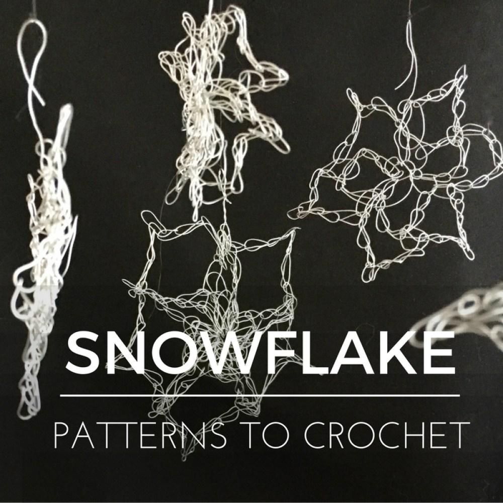 5 free snowflake patterns to crochet