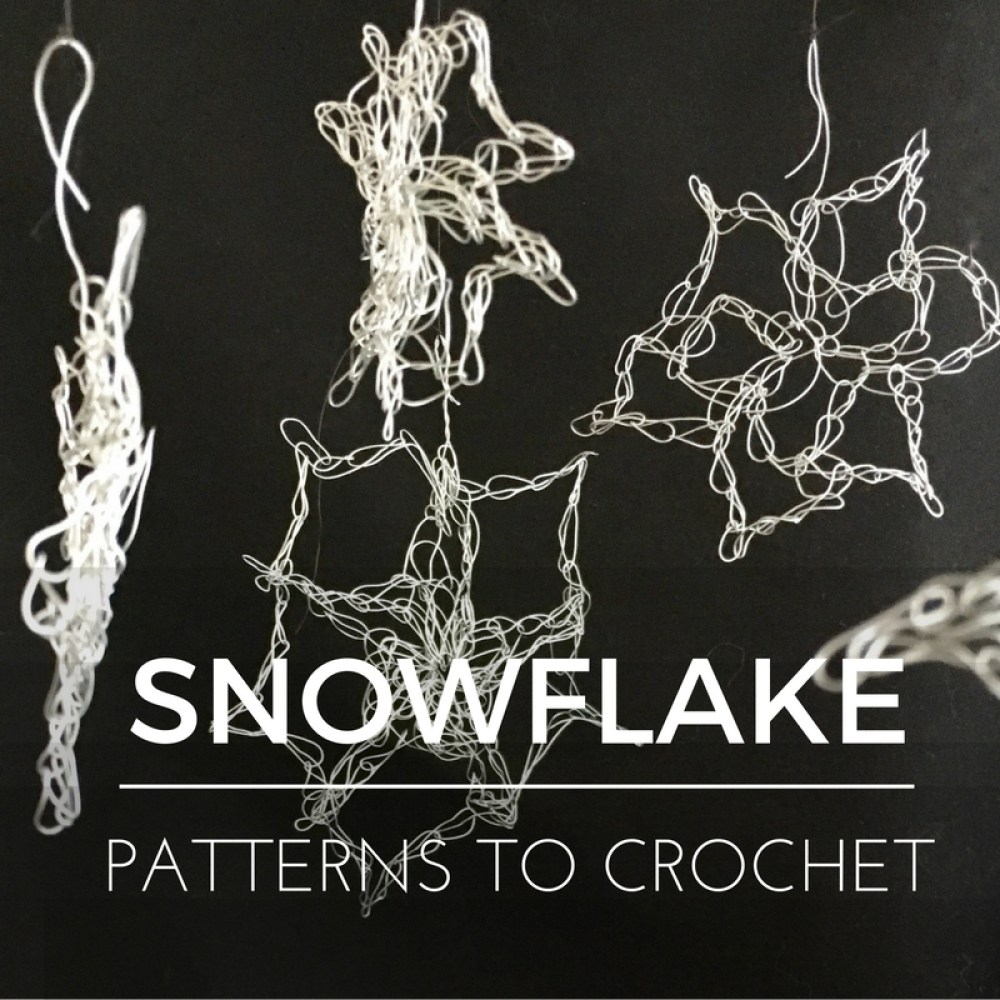 5 free snowflake patterns to crochet
