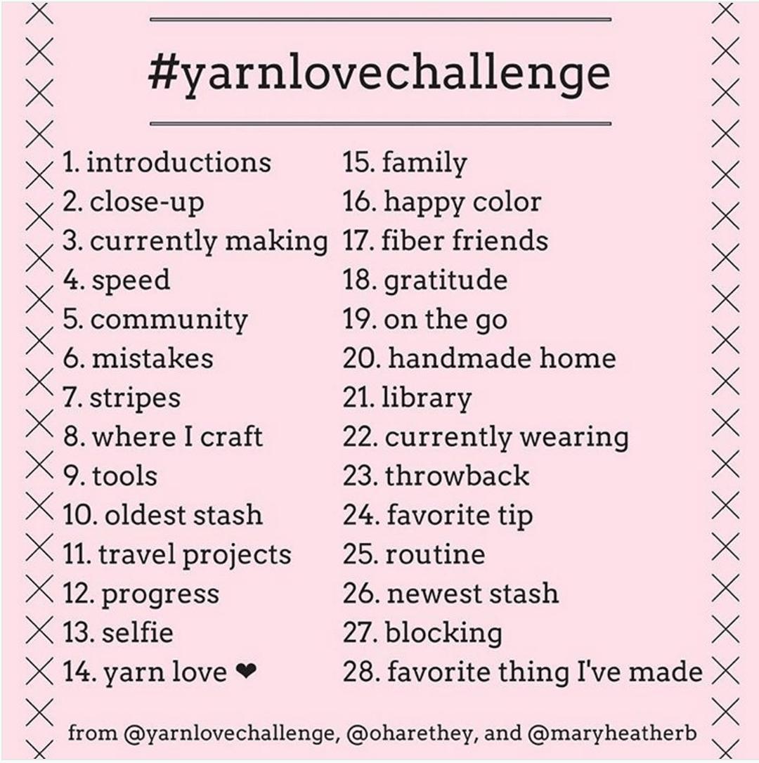 Yarn Love Challenge on Instagram