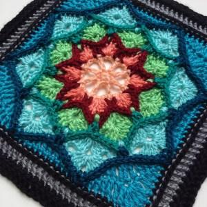 Suncatcher granny square motif