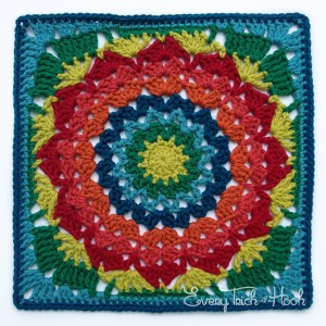 Flower Granny Square Motif