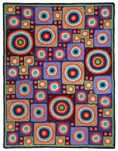 Granny Circle crochet blanket
