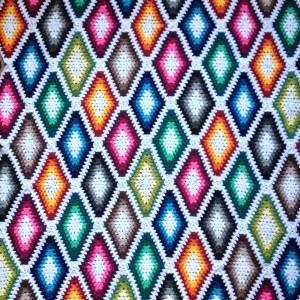 Long Diamond Granny Square Blanket