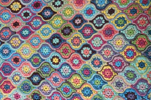 Mystical Lanterns crocheted Blanket by Jane Crawford