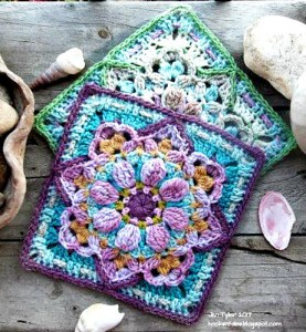 Beautiful textured flower granny square