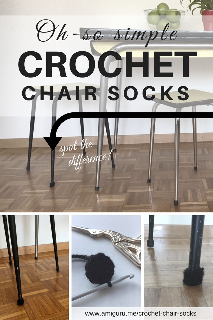 DIY easy crochet chair socks