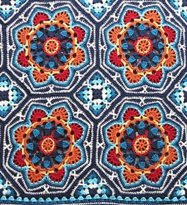 Persian tile crocheted blanket - one of my favourite granny square blanket patterns