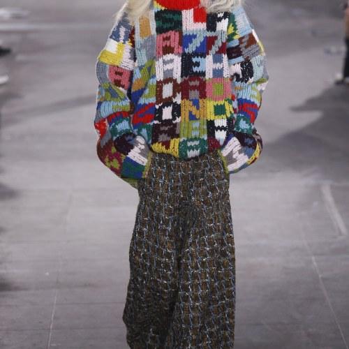 oversized alphabet sweater