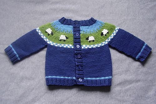 Copy princess charlotte's sheep cardigan knitting pattern