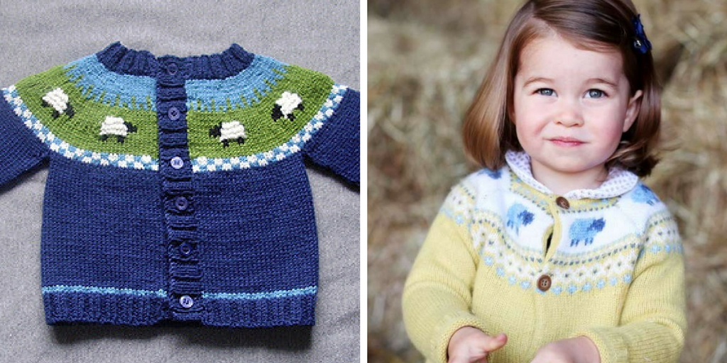 Knit Princess Charlotte's Sheep Cardigan with this Free Pattern