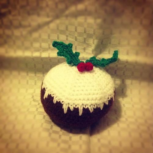 Amigurumi crochet christmas pudding