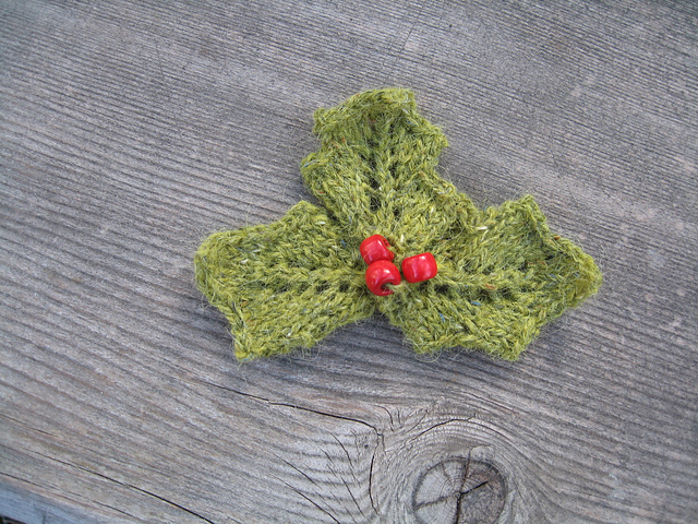 Holly and Berries knitted