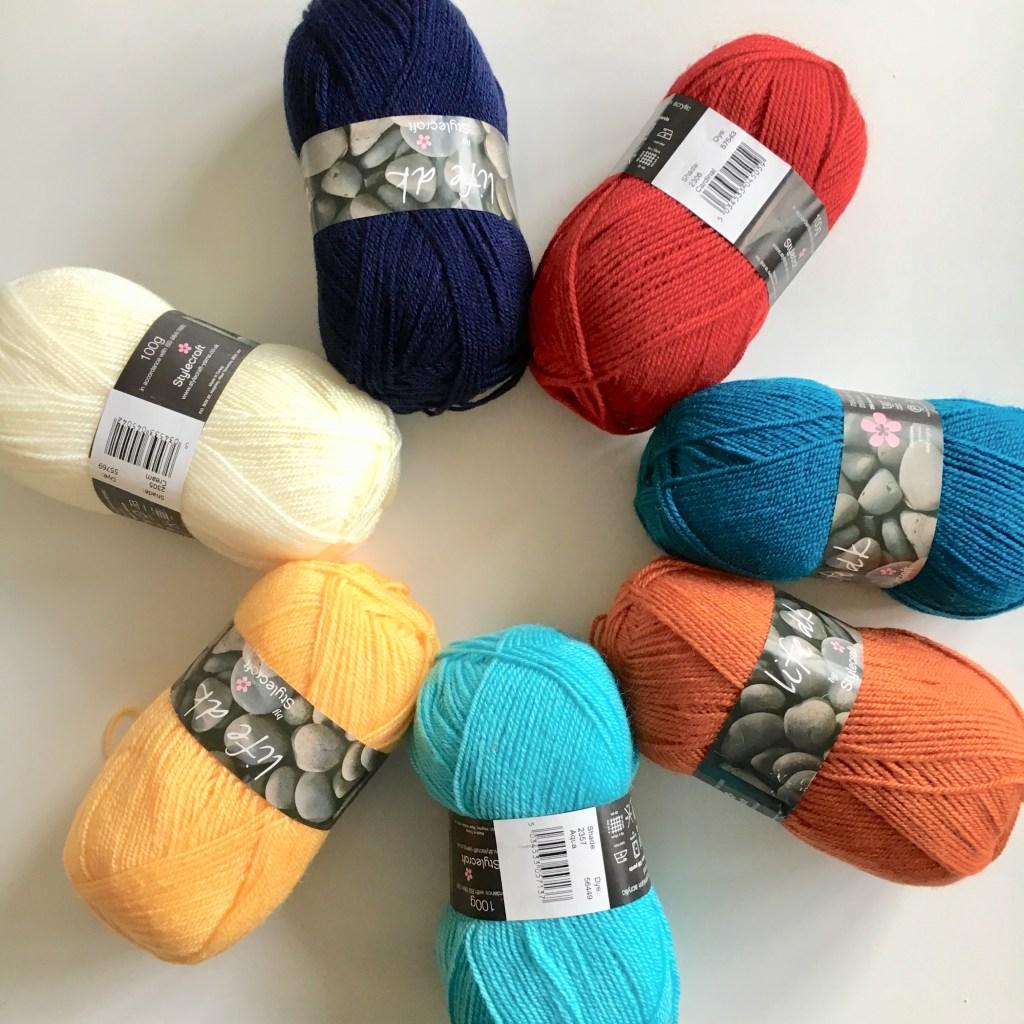 Some of the Persian Tiles crochet blanket yarn