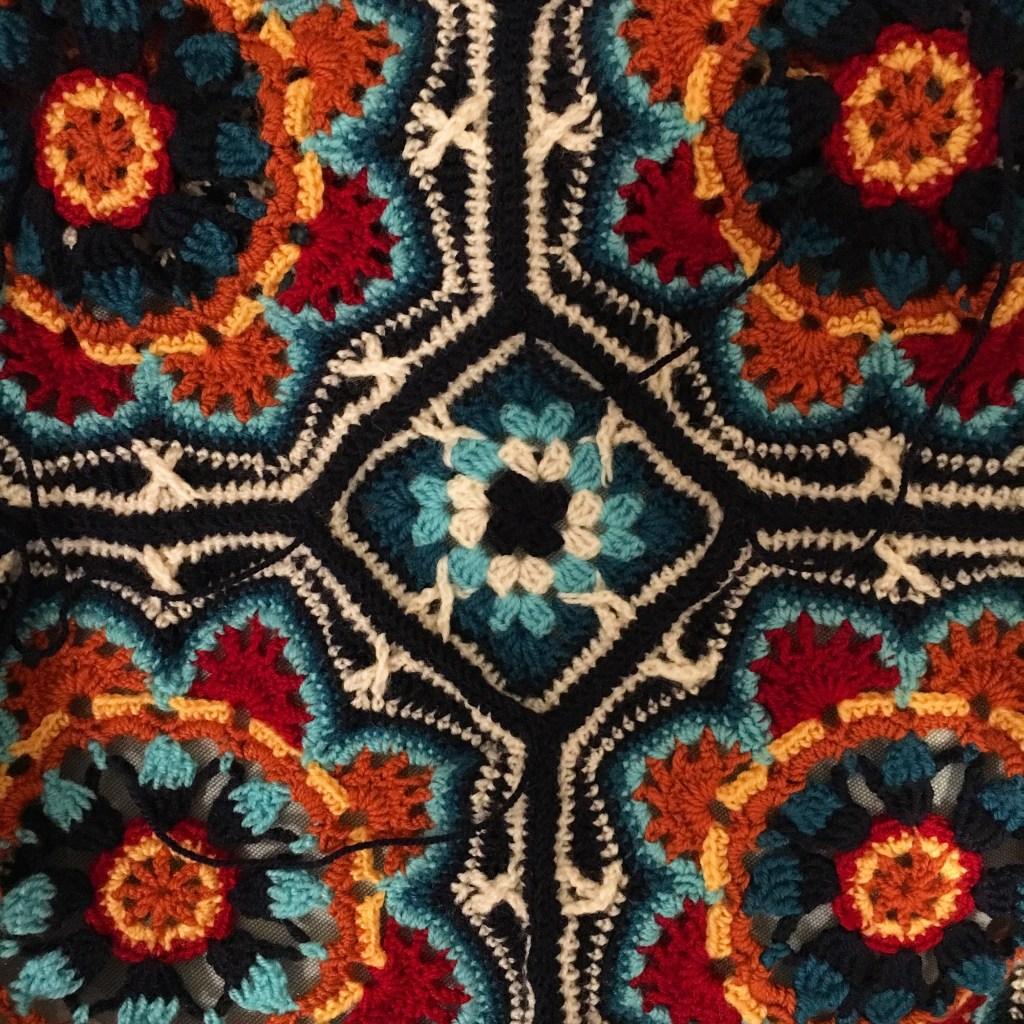 Joining the Persian Tiles crochet blanket