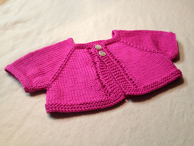 Rose water cardigan similar to Princess Charlottes