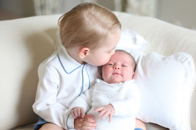 Princess Charlotte in a soft white sweater