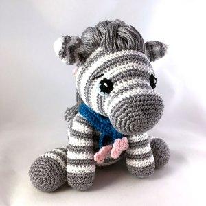 Zebra Amigurumi Crochet Kit