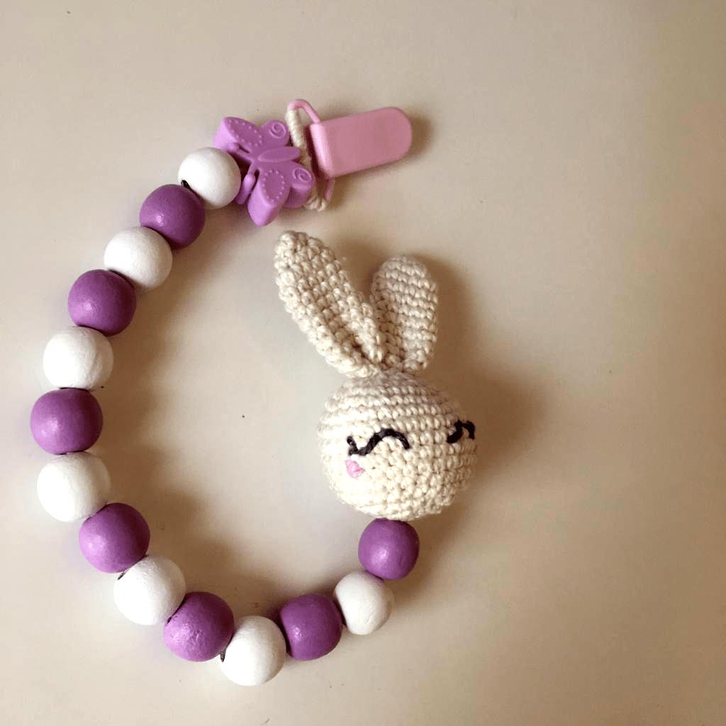 bunny pacifier clip