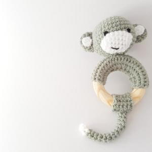 monkey teether crochet kit