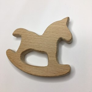 rocking horse teething ring