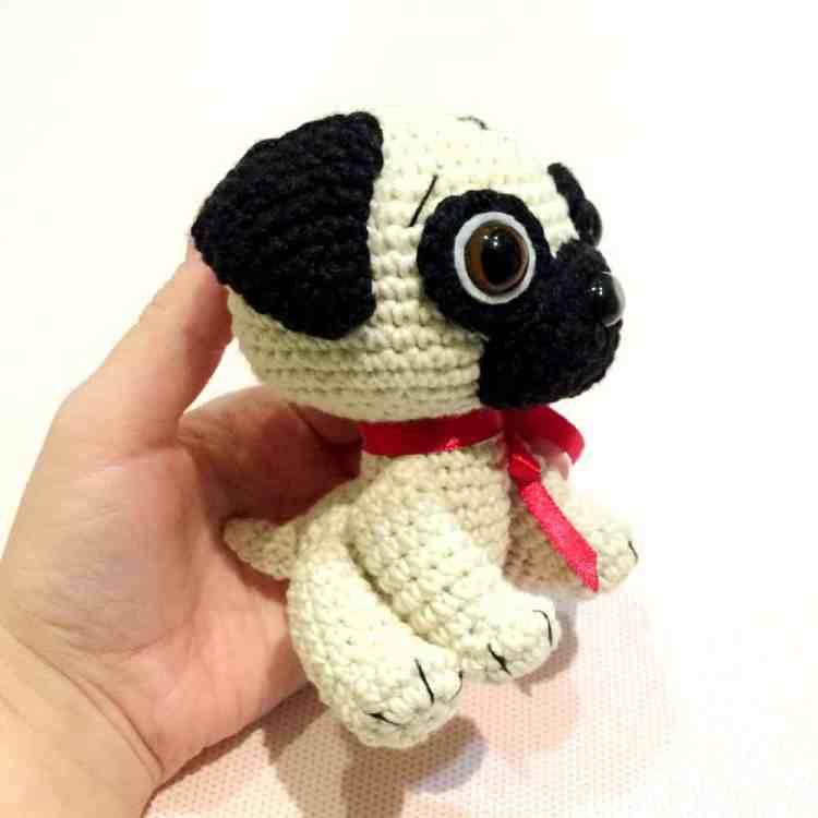 Crochet Pug Dog - Free amigurumi pattern by Amigurumi Today