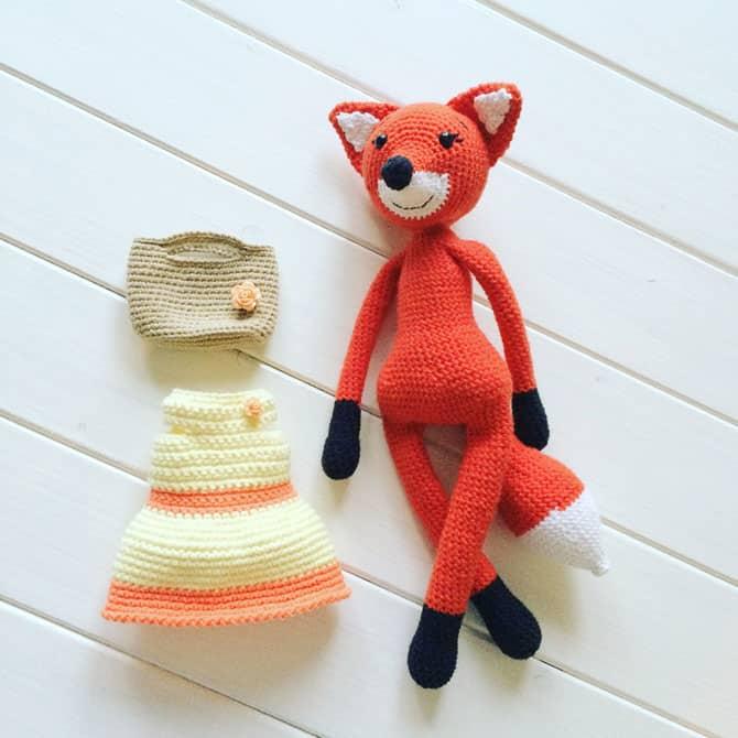 lady fox amigurumi pattern